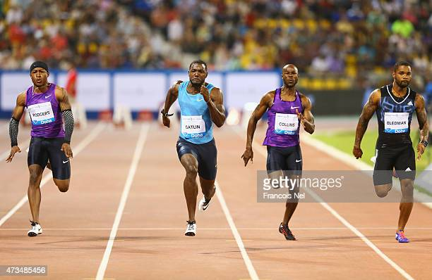 Michael Rodgers of the United States Justin Gatlin of the United States Kim Collins of St Kitts and Nevis and Keston Bledman of Trinidad and Tobago...