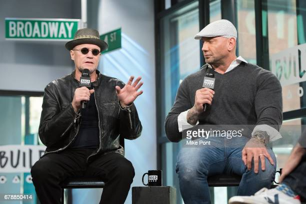 Michael Rooker and Dave Bautista visit Build Studio to discuss 'Guardians of the Galaxy Vol 2' at Build Studio on May 4 2017 in New York City