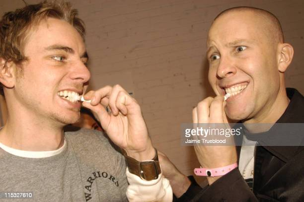 Michael Rosenbaum and Dax Shepard at Go Smile during The Silver Spoon Golden Globe Hollywood Buffet Day 2 at Ivar Soho Project in Hollywood...