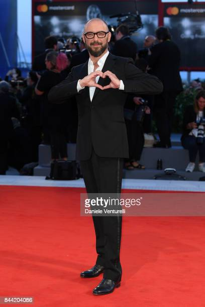 Michael Roskam walks the red carpet ahead of the 'Racer And The Jailbird ' screening during the 74th Venice Film Festival at Sala Grande on September...