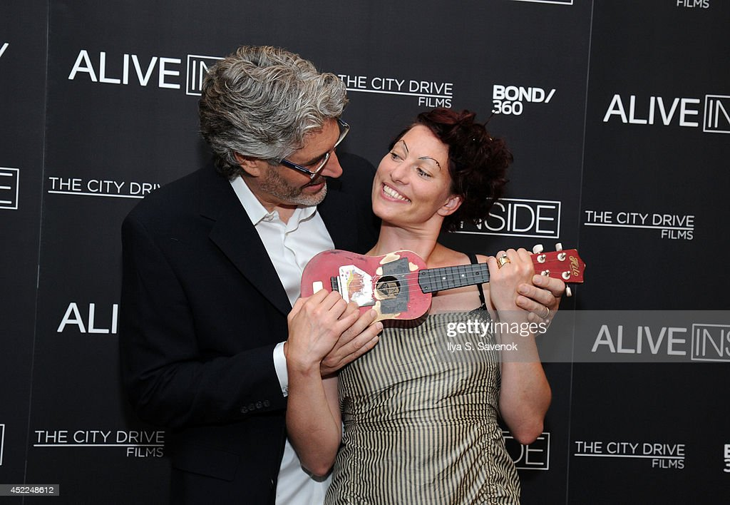 Michael Rossato-Bennett and Amanda Palmer attend the 'Alive Inside' premiere at Crosby Street Hotel on July 16, 2014 in New York City.