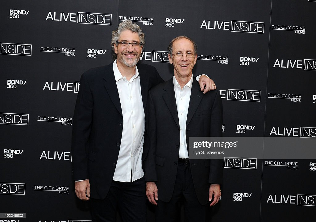 Michael Rossato-Bennett and Dan Cohen attend the 'Alive Inside' premiere at Crosby Street Hotel on July 16, 2014 in New York City.