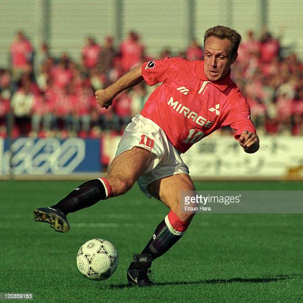 Michael Rummenigge of Urawa Red Diamonds in action during the JLeague Suntory series match between Urawa Red Diamonds and Gamba Osaka at Komaba...