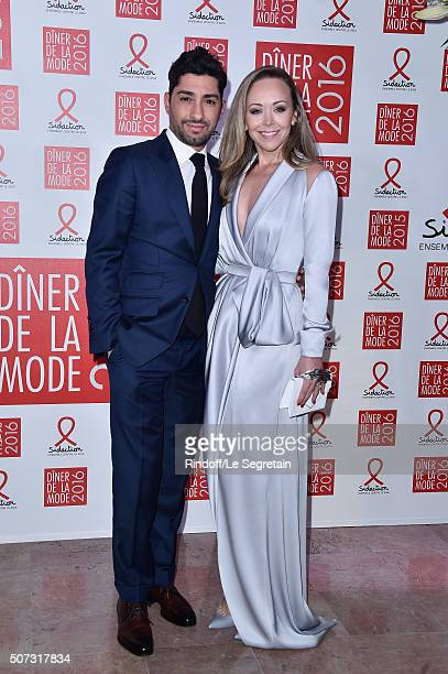 Michael Russo and Tamara Ralph attend the Sidaction Gala Dinner 2016 as part of Paris Fashion Week on January 28 2016 in Paris France