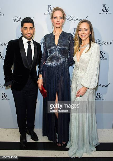 Michael Russo Uma Thurman and Michael Russo attend the Ralph Russo and Chopard dinner during part of Paris Fashion Week on January 25 2016 in Paris...