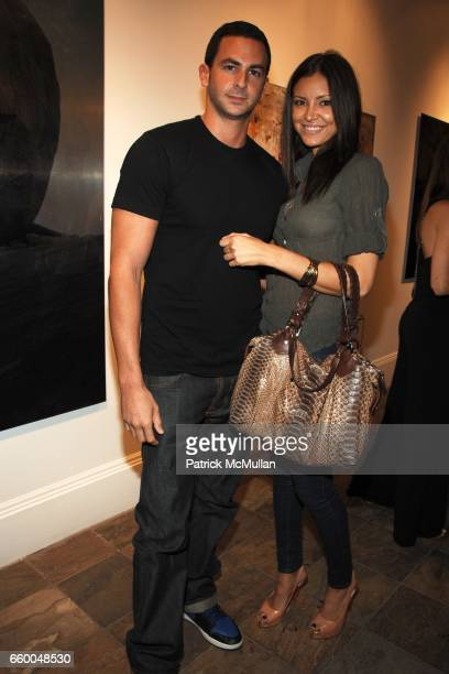 Michael Satsky and Sheena Tesora attend ANDREW LEVITAS works on canvas and steel curated by NEIL GRAYSON at Dactyl Gallery on May 9 2009 in New York...