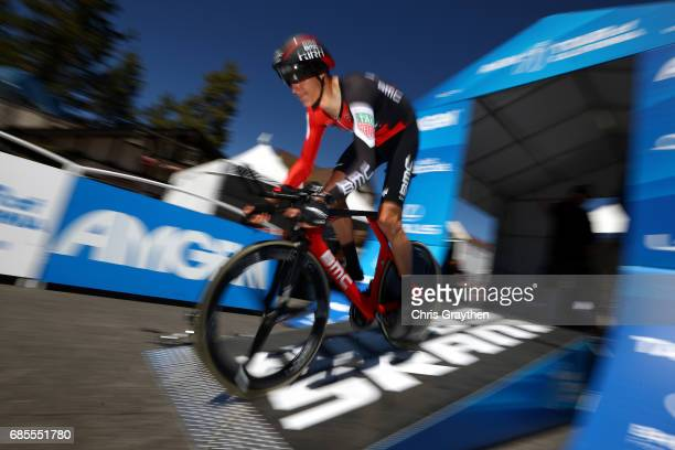 Michael Schaer of Switzerland riding for BMC Racing Team rides during stage five of the AMGEN Tour of California from Ontario to Mt Baldy on May 18...