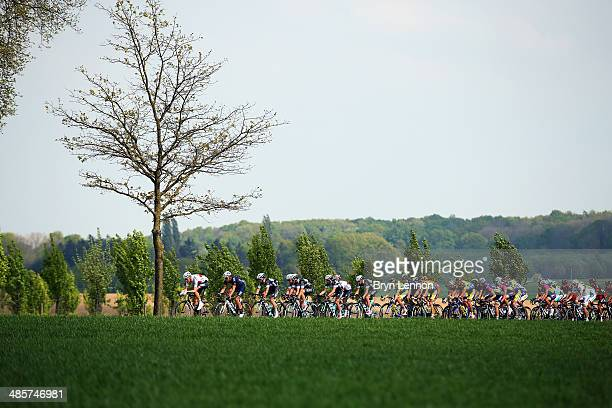 Michael Schar of Switzeland and BMC Racing leads the group during the 49th edition of the Amstel Gold Race on April 20 2014 in Maastricht Netherlands...