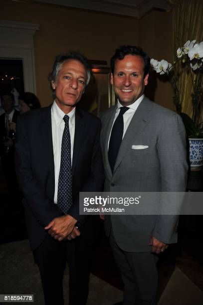 Michael Schultz and David Molnar attend Dinner party to celebrate The Child Mind Institute's 2010 Adam Jeffrey Katz Memorial Lecture Series at The...