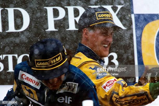 Michael Schumacher Alain Prost Grand Prix of Portugal Estoril 26 September 1993