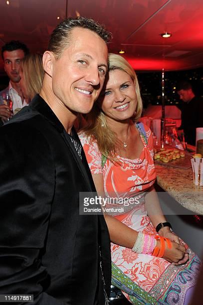 Michael Schumacher and Corinna Schumacher attend the JetSet Party At The F1 Grand Prix of Monaco on May 28 2011 in Monaco Monaco