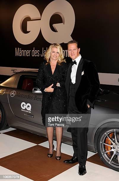 Michael Schumacher and wife Corinna Schumacher attends the GQ Men Of The Year 2010 award ceremony at Komische Oper on October 29 2010 in Berlin...
