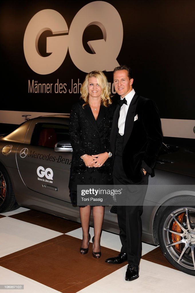 Michael Schumacher and wife Corinna Schumacher attends the GQ Men Of The Year 2010 award ceremony at Komische Oper on October 29, 2010 in Berlin, Germany.