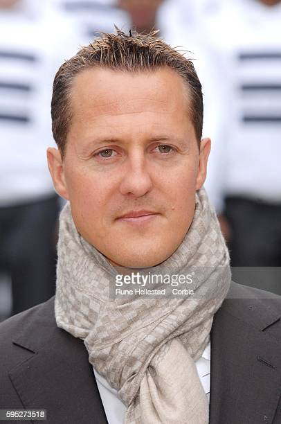 Michael Schumacher attends a photocall for RAC's 'Make Roads Safe' campaign at the Clive Steps on King Charles Street in central London