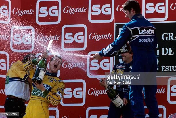 Michael Schumacher Damon Hill Grand Prix of Portugal Estoril 26 September 1993
