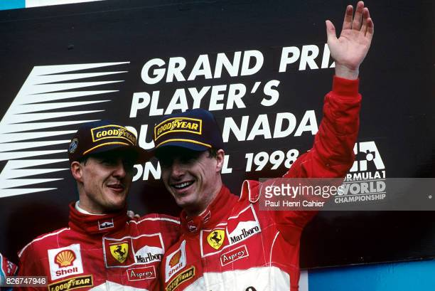 Michael Schumacher Eddie Irvine Grand Prix of Canada Circuit Gilles Villeneuve 07 June 1998