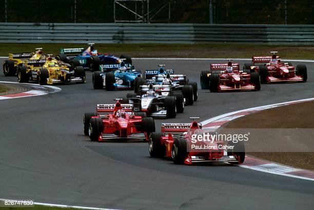 Michael Schumacher Eddie Irvine Mika Hakkinen David Coulthard Ferrari F300 McLarenMercedes MP413 Grand Prix of Luxembourg Nurburgring 27 September...