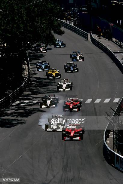 Michael Schumacher Eddie Irvine Mika Hakkinen David Coulthard Ferrari F300 McLarenMercedes MP413 Grand Prix of Monaco Monaco 16 May 1999