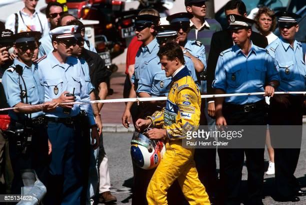 Michael Schumacher Grand Prix of Monaco Monaco 23 May 1993 Michael Schumacher walks back to the pits after his retirement