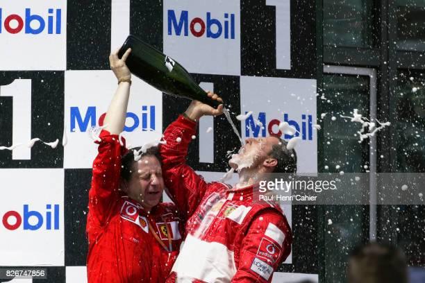 Michael Schumacher Jean Todt Grand Prix of France Circuit de Nevers MagnyCours 21 July 2002