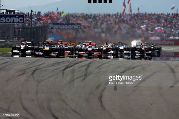 Michael Schumacher Mark Webber Lewis Hamilton Mercedes MGP W01 Red BullRenault RB6 McLarenMercedes MP425 Grand Prix of Turkey Istanbul Park 30 May...