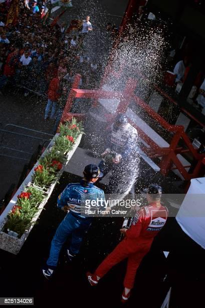 Michael Schumacher Mika Hakkinen Damon Hill Grand Prix of Belgium Spa Francorchamps 28 August 1994