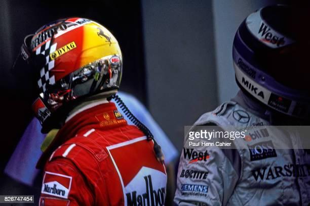 Michael Schumacher Mika Hakkinen Grand Prix of Japan Suzuka 01 November 1998