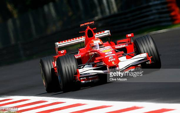 Michael Schumacher of Germany and Ferrari in action during the Italian Grand Prix at the Autodromo Nazionale di Monza on September 10 in Monza Italy