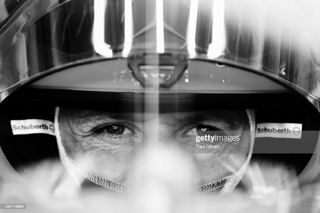 <a gi-track='captionPersonalityLinkClicked' href=/galleries/search?phrase=Michael+Schumacher&family=editorial&specificpeople=157602 ng-click='$event.stopPropagation()'>Michael Schumacher</a> of Germany and Mercedes GP prepares to drive during the final practice session prior to qualifying for the Brazilian Formula One Grand Prix at the Autodromo Jose Carlos Pace on November 26, 2011 in Sao Paulo, Brazil.