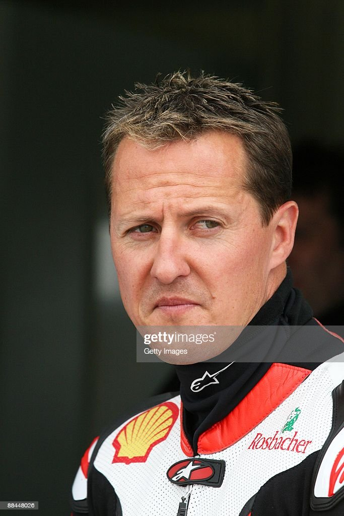 Michael Schumacher of Germany and Team Holzhauer Racing looks on during an International German Championship IDM training session at Sachsenring...