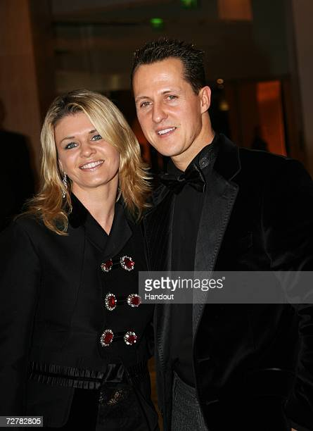 Michael Schumacher of Germany seven time Formula One World Champion and wife Corinna attend the 2006 FIA Gala Prize Giving Ceremony held at the Salle...