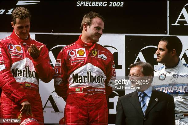 Michael Schumacher Rubens Barrichello Juan Pablo Montoya Grand Prix of Austria A1Ring Spielberg 12 May 2002