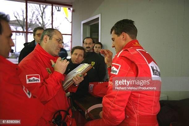 Michael Schumacher with the Ferrari team