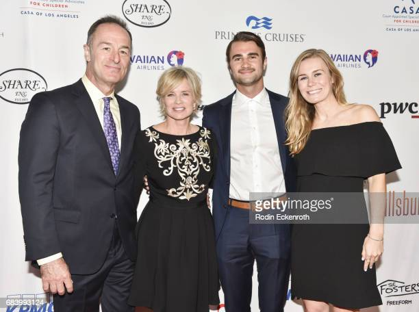 Michael Schwartz actress Mary Beth Evans and children attend 2017 CASA of Los Angeles Evening to Foster Dreams Gala at The Beverly Hilton Hotel on...