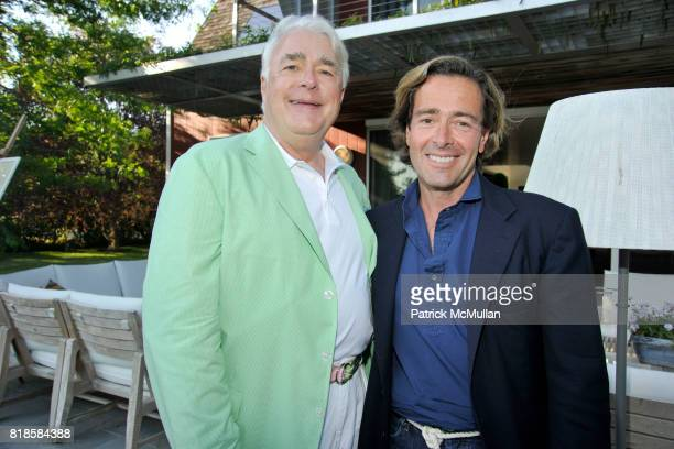 Michael Sennott and Jeff Pfeifle attend GODS LOVE WE DELIVERMid Summer Night Drinks Benefit at Home of Chad A Leat on June 19 2010 in Bridgehampton...