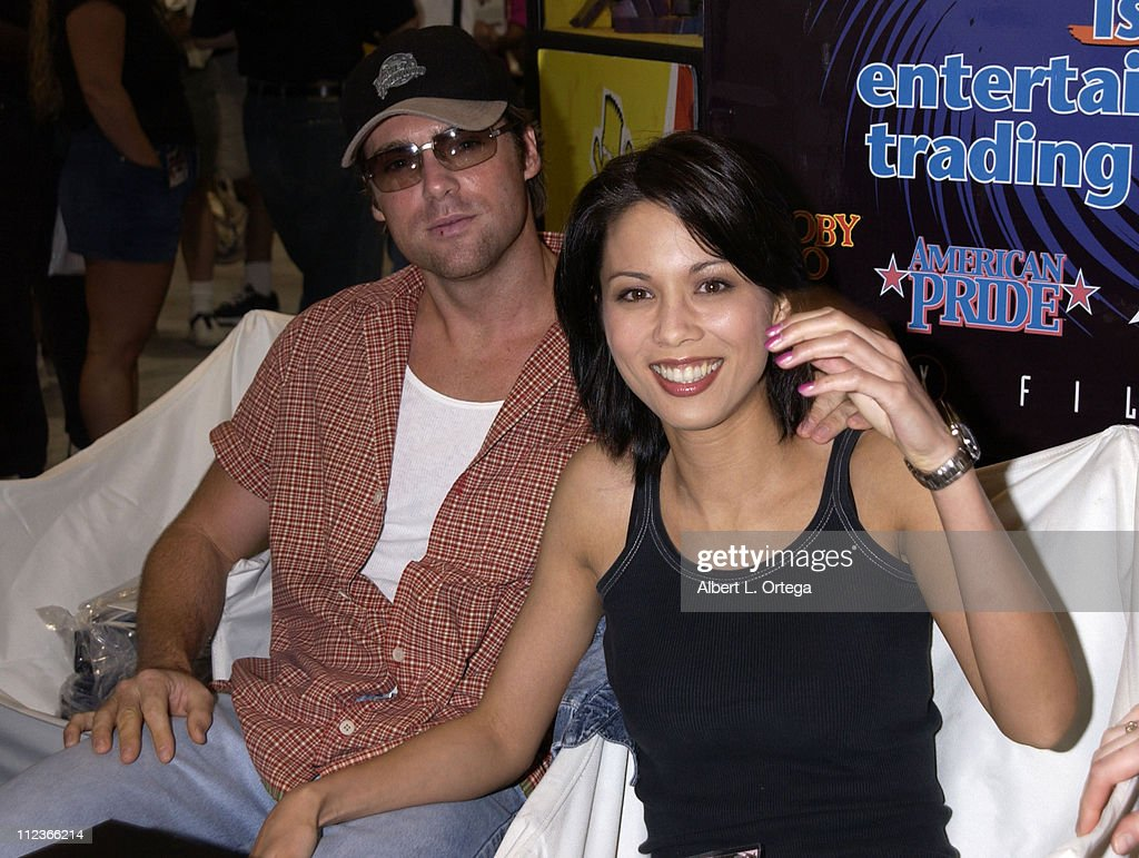 Michael Shanks and Lexa Doig during 2002 San Diego Comic Con International - Day Three at San Diego Convention Center in San Diego, California, United States.
