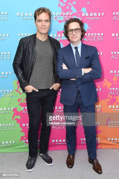Michael Shannon and Jay Fielden attend Hearst Magazines' Unbound Access MagFront at Hearst Tower on October 17 2017 in New York City