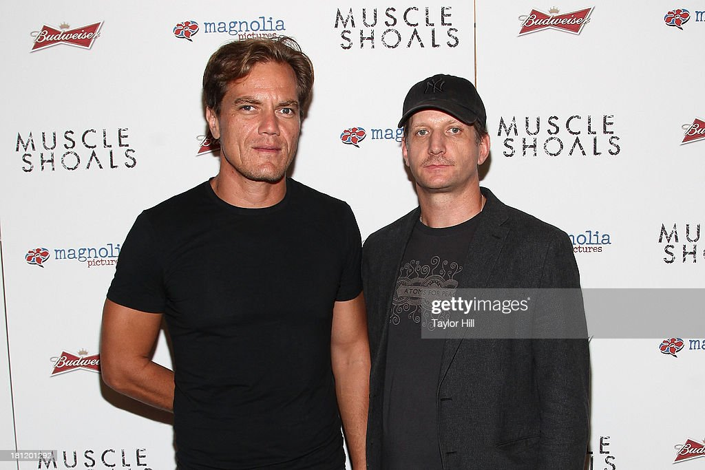 Michael Shannon and Paul Sparks attend the 'Muscle Shoals' New York screening at Landmark Sunshine Cinemas on September 19, 2013 in New York City.