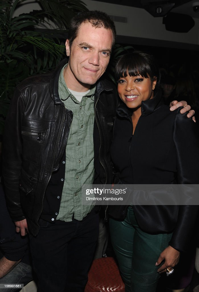 Michael Shannon and Taraji P. Henson attend The Cinema Society With Men's Health And DeLeon Tequila Host A Screening Of The Weinstein Company's 'Killing Them Softly' After Party on November 26, 2012 in New York City.