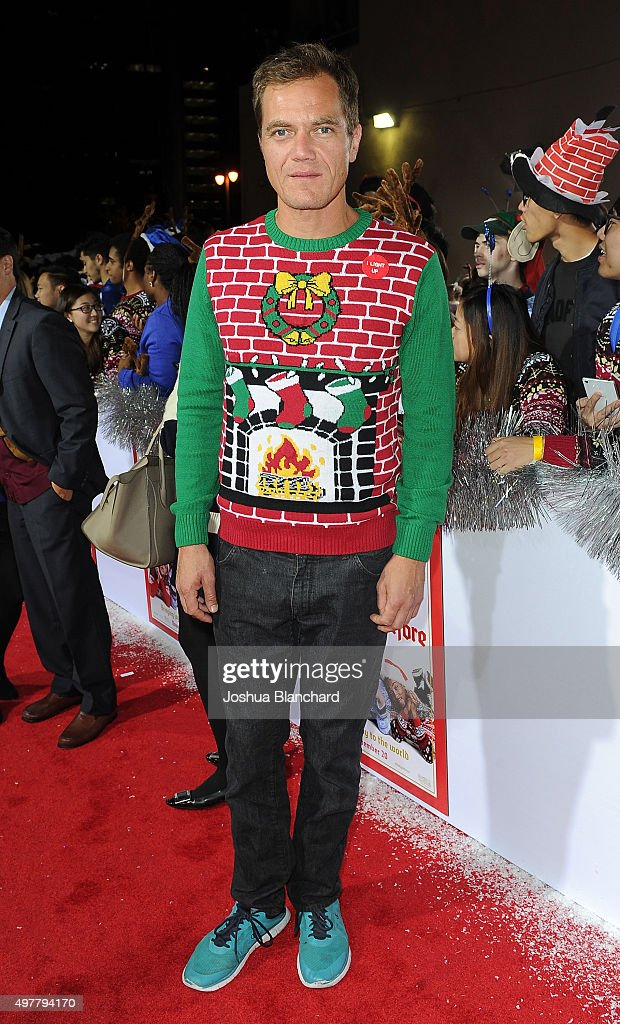 Michael Shannon arrives at premiere for Columbia Pictures' 'The Night Before' at The Theatre at The Ace Hotel on November 18 2015 in Los Angeles...