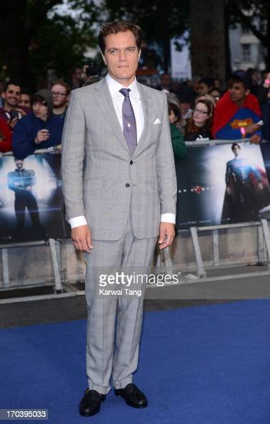 Michael Shannon attends the European Premiere of 'Man of Steel' at the Empire Leicester Square on June 12 2013 in London England