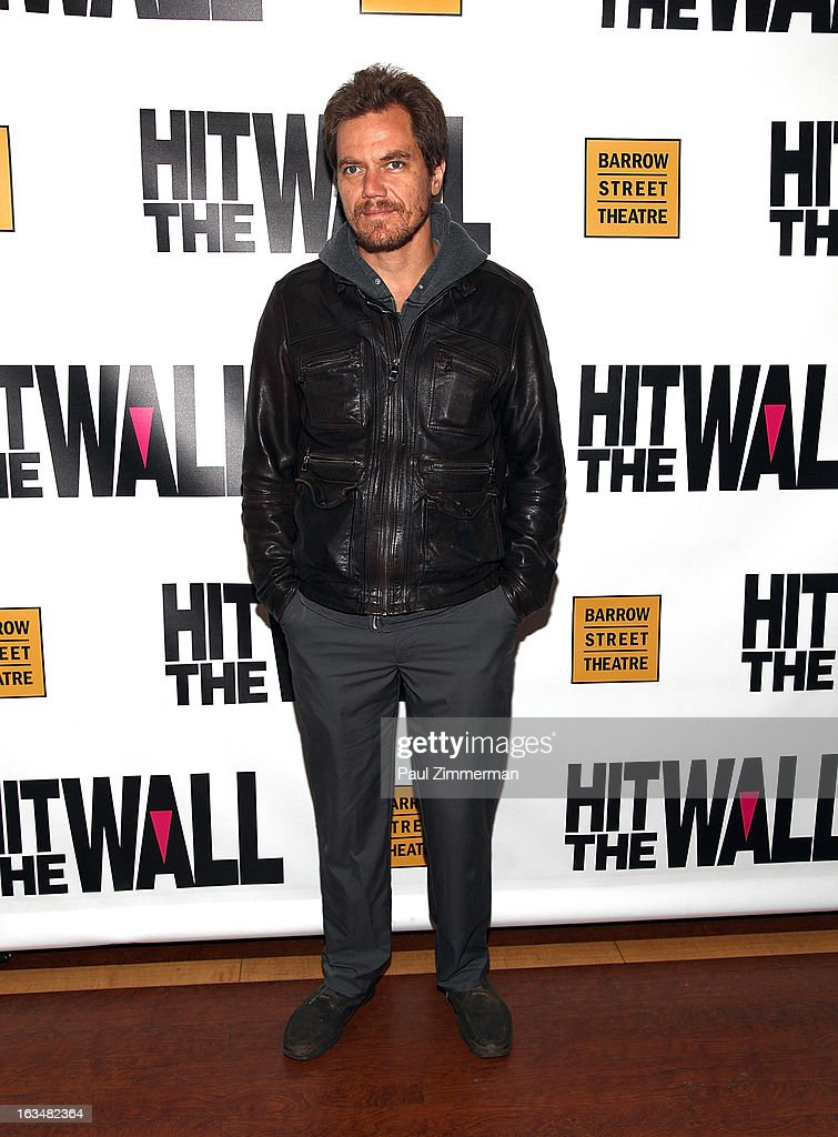<a gi-track='captionPersonalityLinkClicked' href=/galleries/search?phrase=Michael+Shannon&family=editorial&specificpeople=660513 ng-click='$event.stopPropagation()'>Michael Shannon</a> attends the 'Hit The Wall' Off Broadway opening night at the Barrow Street Theatre on March 10, 2013 in New York City.