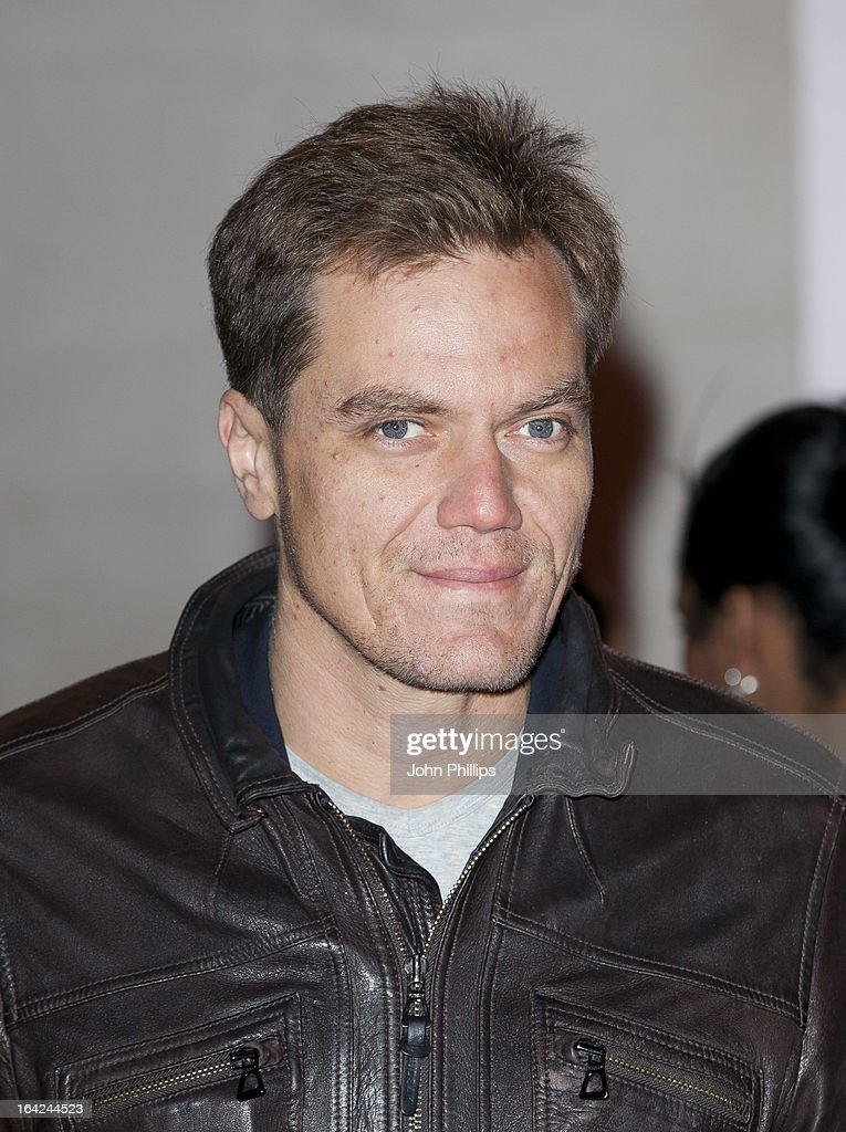 <a gi-track='captionPersonalityLinkClicked' href=/galleries/search?phrase=Michael+Shannon&family=editorial&specificpeople=660513 ng-click='$event.stopPropagation()'>Michael Shannon</a> attends the press night for 'The Book of Mormon' at Prince Of Wales Theatre on March 21, 2013 in London, England.