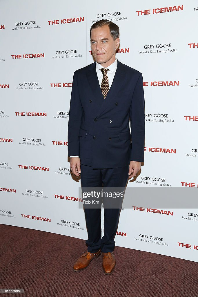 <a gi-track='captionPersonalityLinkClicked' href=/galleries/search?phrase=Michael+Shannon&family=editorial&specificpeople=660513 ng-click='$event.stopPropagation()'>Michael Shannon</a> attends the 'The Iceman' screening presented by Millennium Entertainment and GREY GOOSE at Chelsea Clearview Cinemas on April 29, 2013 in New York City.