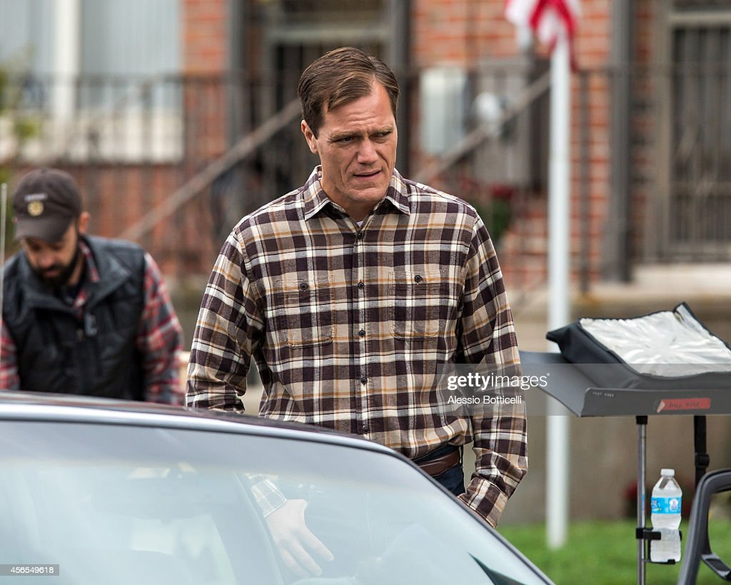 Michael Shannon is seen filming 'Freeheld' in the Queens borough of New York on October 2 2014 in New York City