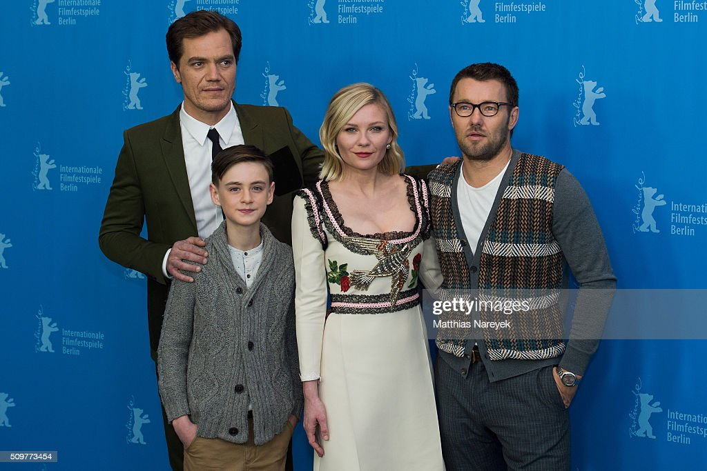 <a gi-track='captionPersonalityLinkClicked' href=/galleries/search?phrase=Michael+Shannon&family=editorial&specificpeople=660513 ng-click='$event.stopPropagation()'>Michael Shannon</a>, <a gi-track='captionPersonalityLinkClicked' href=/galleries/search?phrase=Jaeden+Lieberher&family=editorial&specificpeople=11117189 ng-click='$event.stopPropagation()'>Jaeden Lieberher</a>, <a gi-track='captionPersonalityLinkClicked' href=/galleries/search?phrase=Joel+Edgerton&family=editorial&specificpeople=211291 ng-click='$event.stopPropagation()'>Joel Edgerton</a> and <a gi-track='captionPersonalityLinkClicked' href=/galleries/search?phrase=Kirsten+Dunst&family=editorial&specificpeople=171590 ng-click='$event.stopPropagation()'>Kirsten Dunst</a> attend the 'Midnight Special' photo call during the 66th Berlinale International Film Festival Berlin at Grand Hyatt Hotel on February 12, 2016 in Berlin, Germany.