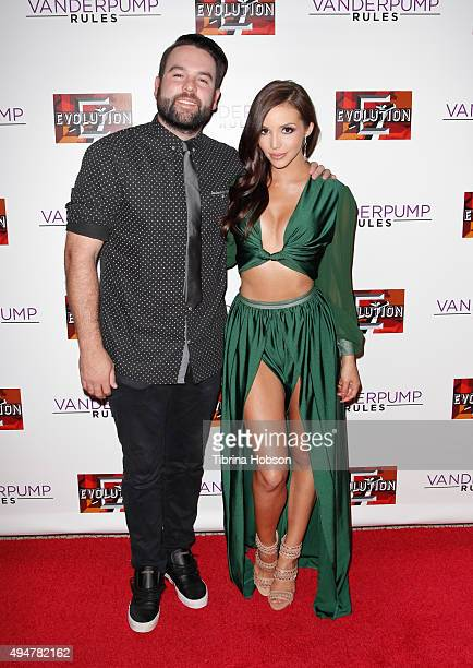 Michael Shay and Scheana Marie attend the 'Vanderpump Rules' premiere party at The Church Key on October 28 2015 in West Hollywood California