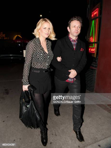 Michael Sheen and Carrie Keagan are seen on January 17 2014 in Los Angeles California