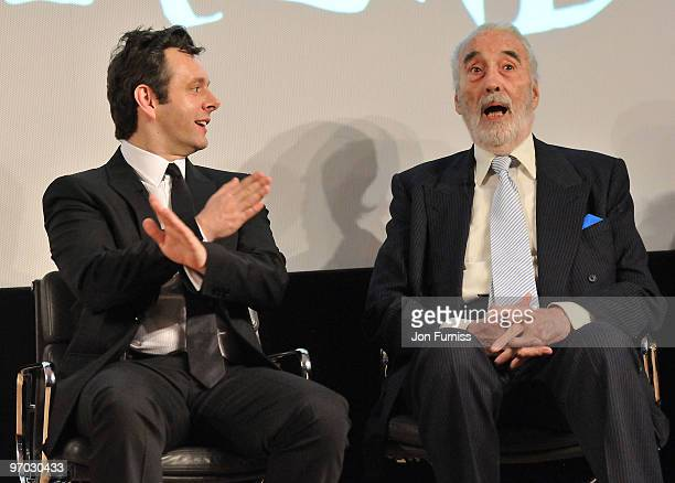 Michael Sheen and Christopher Lee attends Curiouser and Curiouser The Genius of Alice In Wonderland an evening celebrating Lewis Carrol's original...