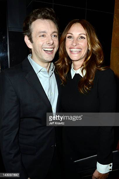 Michael Sheen and Julia Roberts attends the Los Angeles premiere of 'Jesus Henry Christ' at Mann Chinese 6 on April 18 2012 in Los Angeles California